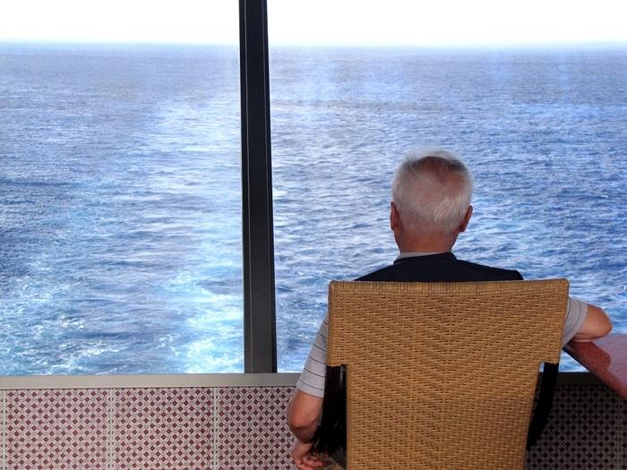 mûrir, regarder, regarder, dehors, mer