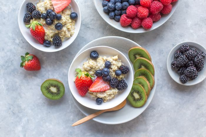 Porridge et fruits