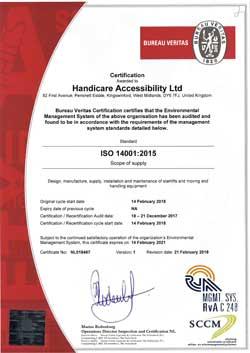 ISO 14001: 2015 Handicare Accessibility Ltd